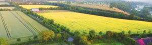 Panoramic view overlooking Newgrange Gold Farm