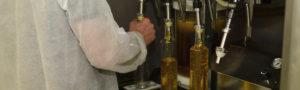 filling bottles with Newgrange Gold Camelina & Rapeseed Oil