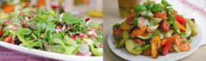 salad and roasted veg made with newgrange gold oils