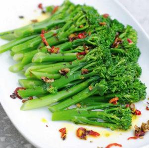 Broccoli fried in Newgrange Gold Rapeseed Oil