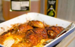 Honey and Mustard Sticky Chicken