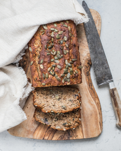 Vegan Banana Bread with Blueberries By Clare Wilkinson