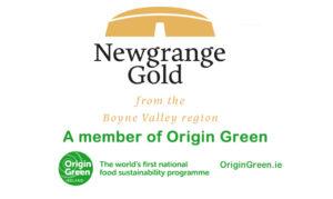 Newgrange Gold logo with Origin Green logo
