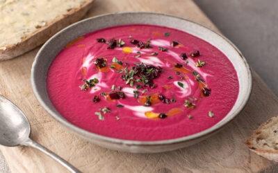 Beetroot, Horseradish & Pear Soup