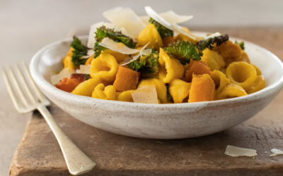 Orecchiette Pasta with Roasted Butternut & Crispy Kale with Newgrange Garden Herbs & Lemon Rapeseed Oil