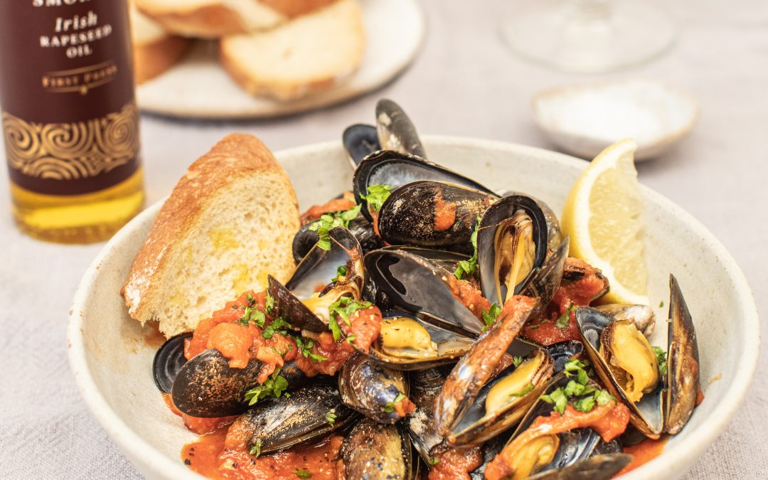 Mussels in a Smokey Harissa Tomato Sauce