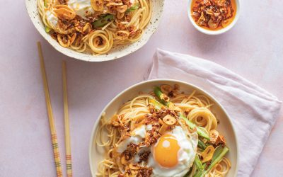 Noodles with Crispy Garlic and Shallot Chilli Oil